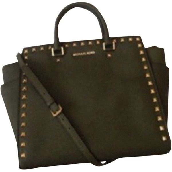 Pre Owned Michael Kors Large Selma Army Green Tote Bag 268 Liked