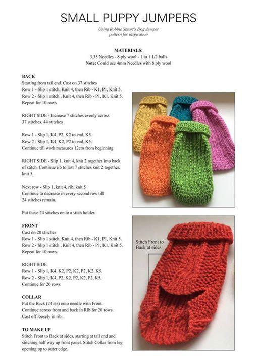 Small Dog Coat Crochet