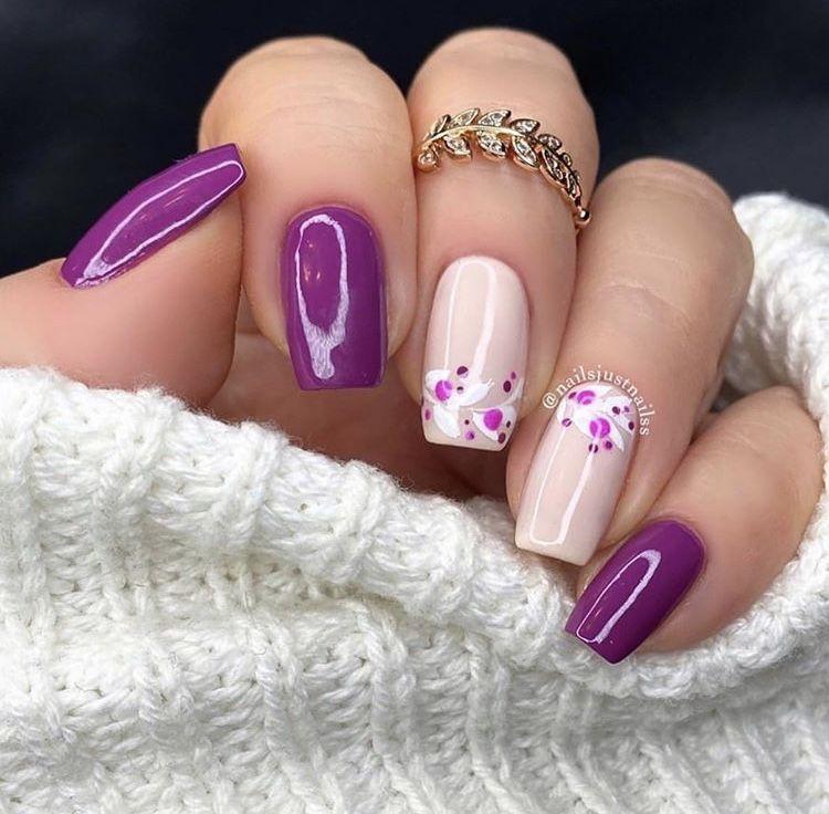Vegan Purple Nails In 2020 Purple Nails Creative Nails Nails