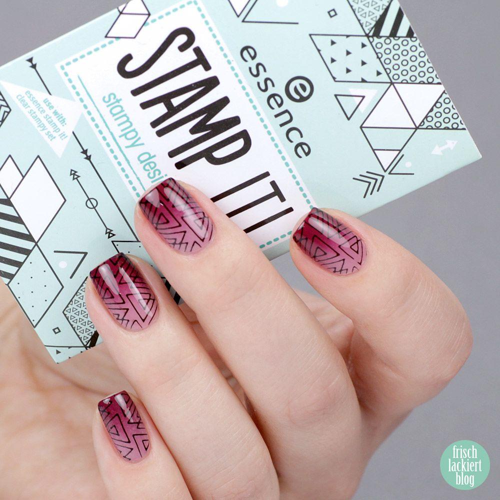 Essence Stamp It Gradient Mit Geometrischem Stamping