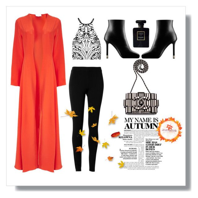 """""""My name is Autumn"""" by redcatmeow ❤ liked on Polyvore featuring We Are Leone, Alice McCall, Max Studio and Chanel"""