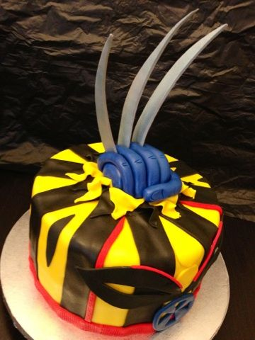 Wolverine xmen birthday cake, caked by two Miami | cakes :) | Cake ...