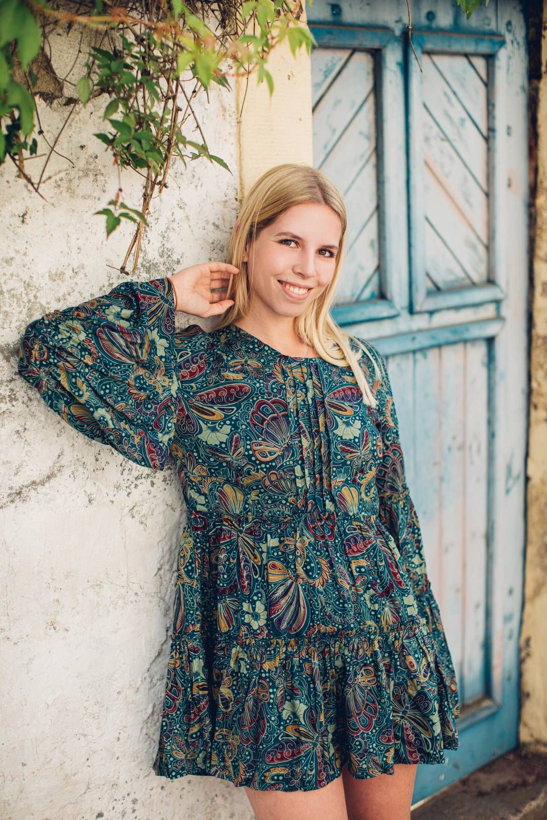 Boho Tunika Kleid Mit Trompetenarmeln Ibiza Boho Outfit Babydollkleid 58 00 Tunika Kleid Boho Tunika Kleid Trompetenarmel