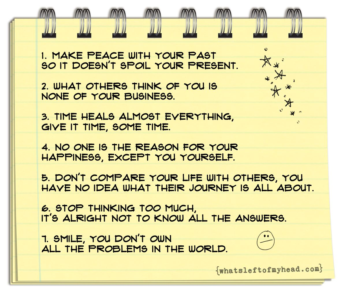 Seven Things To Remember