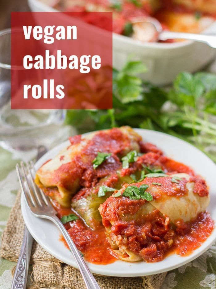 These stuffed cozy cabbage rolls are made with tender leaves of steamed cabbage wrapped around a sa
