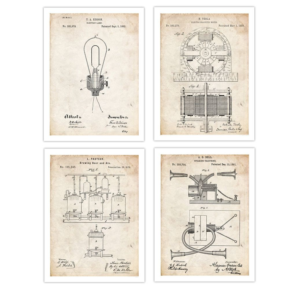 005 Famous Inventions Poster Collection, 20 18×24