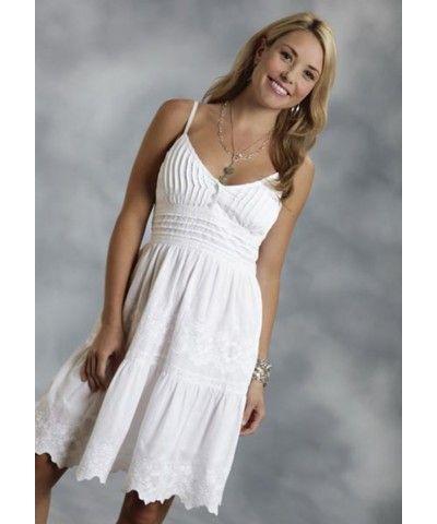 087d493ed6a Roper White Cotton Sundress