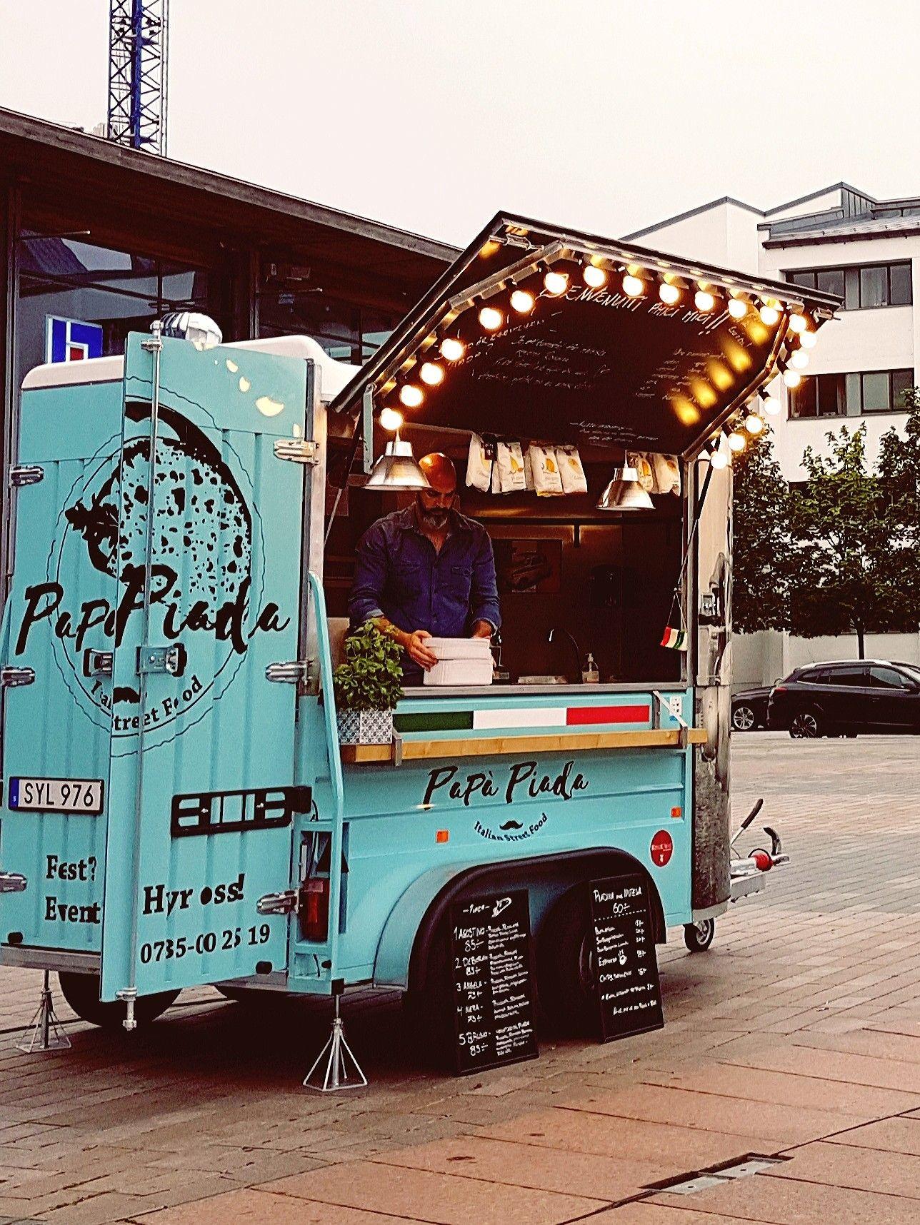Italian Street Food Papa Piada Foodtruck In Helsingborg Italian Street Food Street Food Design Food Truck Design