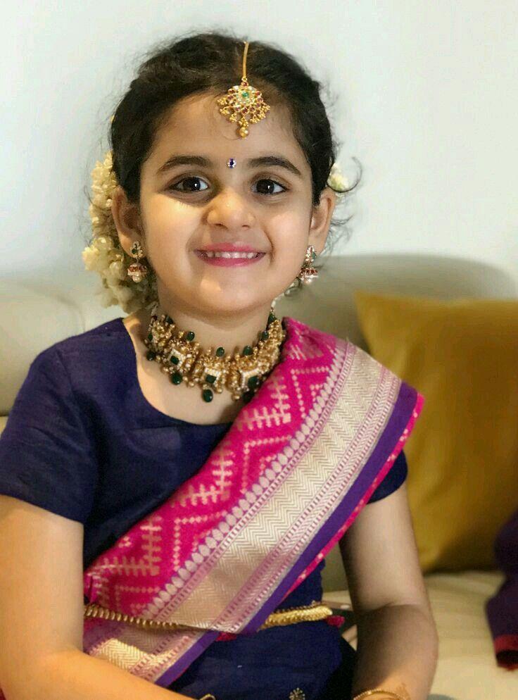 Pin by Vaishnavi Datla on Half Sarees Dresses kids girl