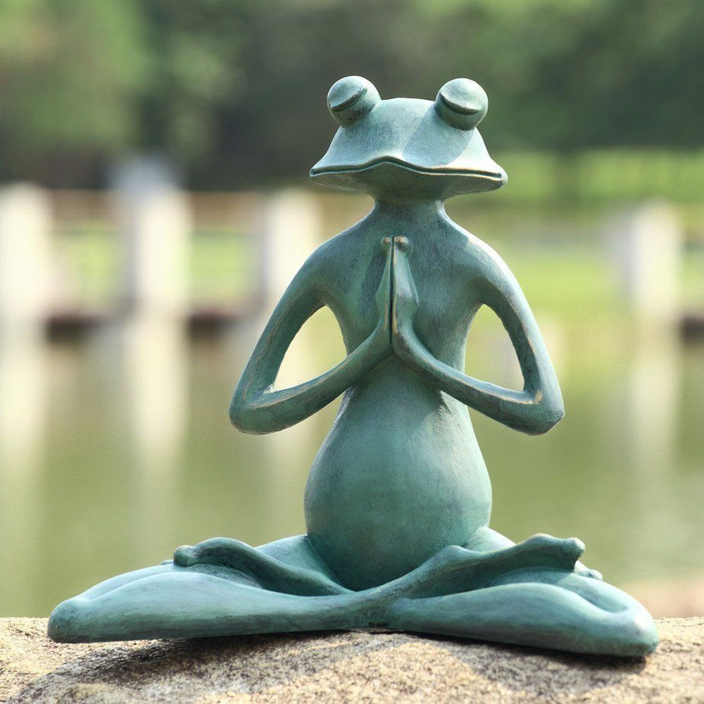 Attractive This Verdi Green Finished Aluminum Meditating Frog Statue Makes A Whimsical  Addition To Garden Decor.