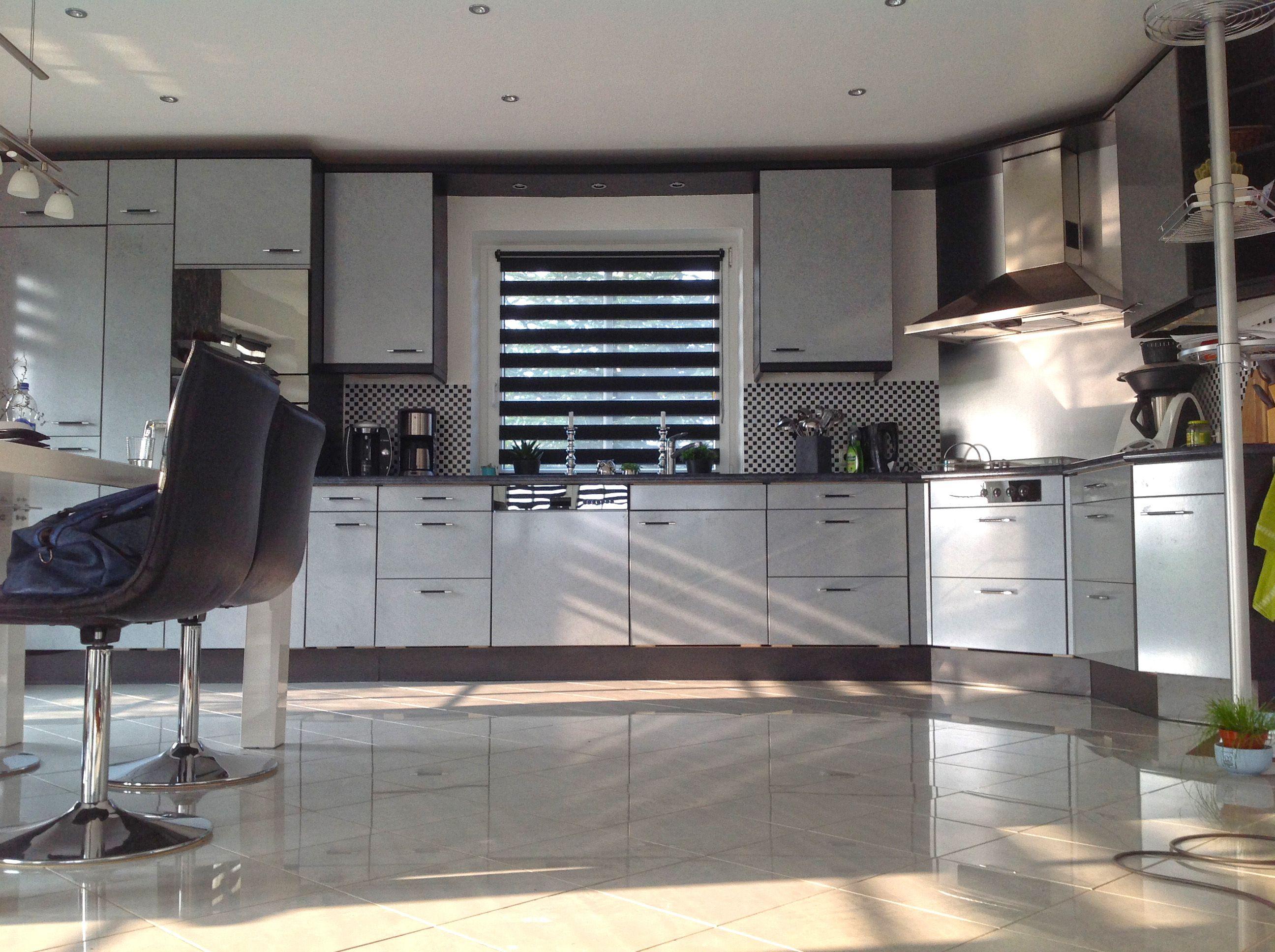 rollo #schwarzweiß #deko #küche macht euer zuhause schöner mit ... - Rollos Für Die Küche