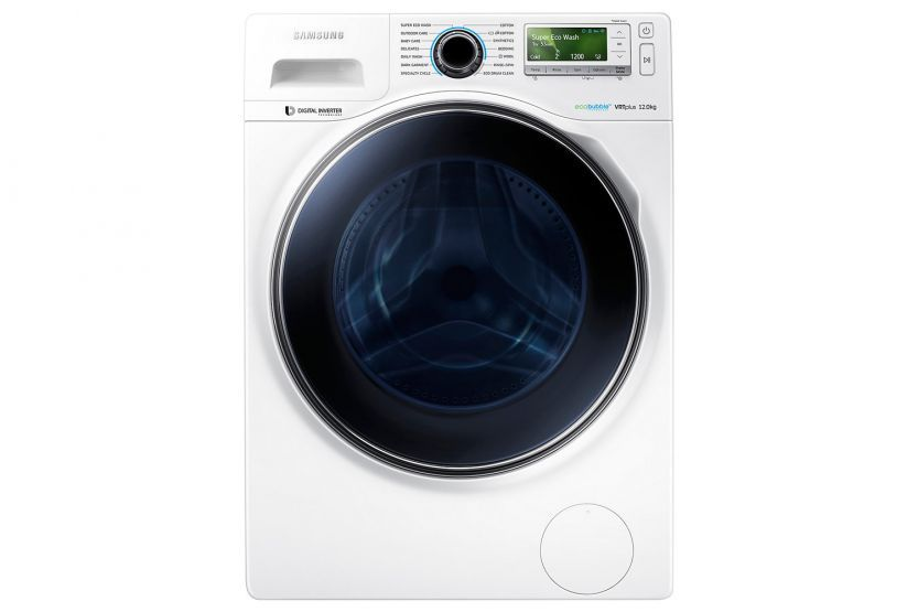 Samsung 12kg Ecobubble Washing Machine Ww12h8420ew Eu Front Loading Washing Machine Washing Machine Washing Machine Dryer