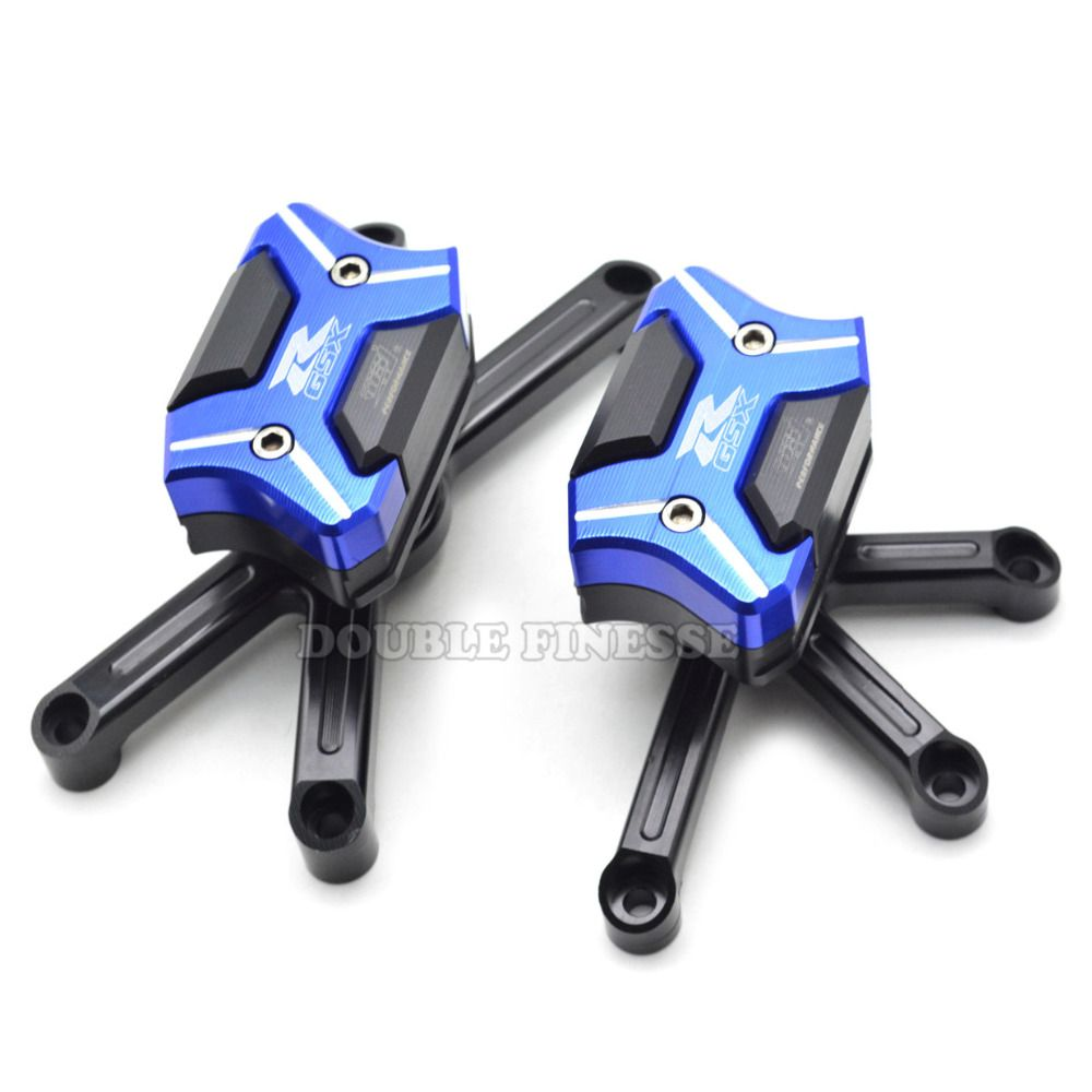Motorcycle Frame Sliders Crash Engine Guard Pad Aluminium Side Shield Protector For Suzuki Gsxr 600 Gsxr750 K6 K8 Blue Motorcycle Motorcycle Frames Suzuki Gsxr