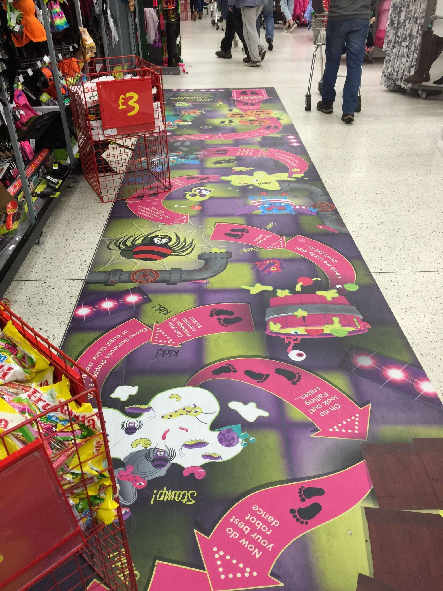Asda Halloween Party 2015 Floor Sticker (With images