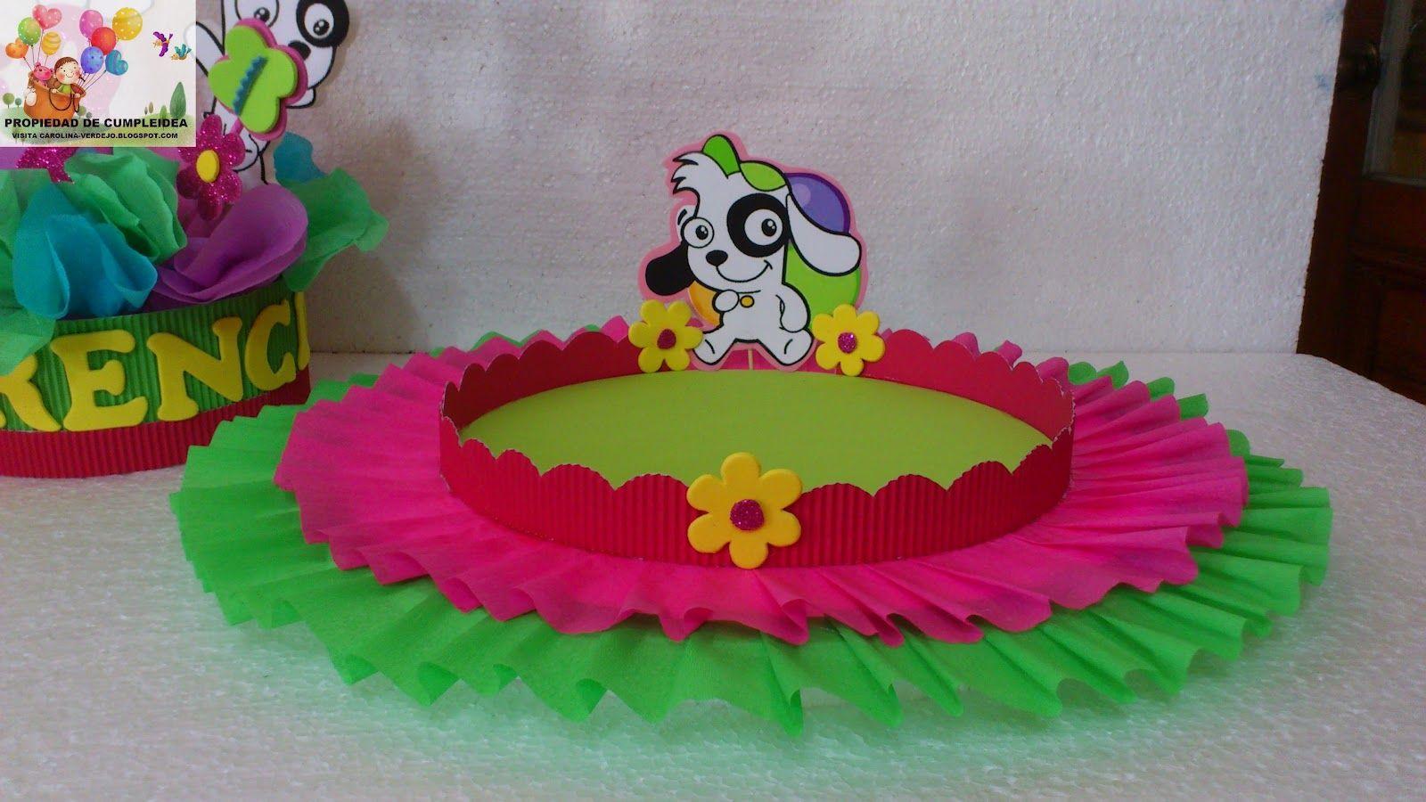 bandejas decoradas para fiestas infantiles Buscar con Google
