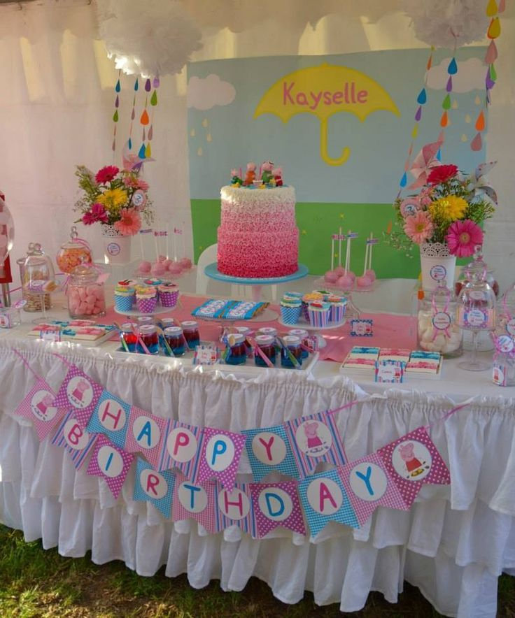 Peppa Pig Party Table