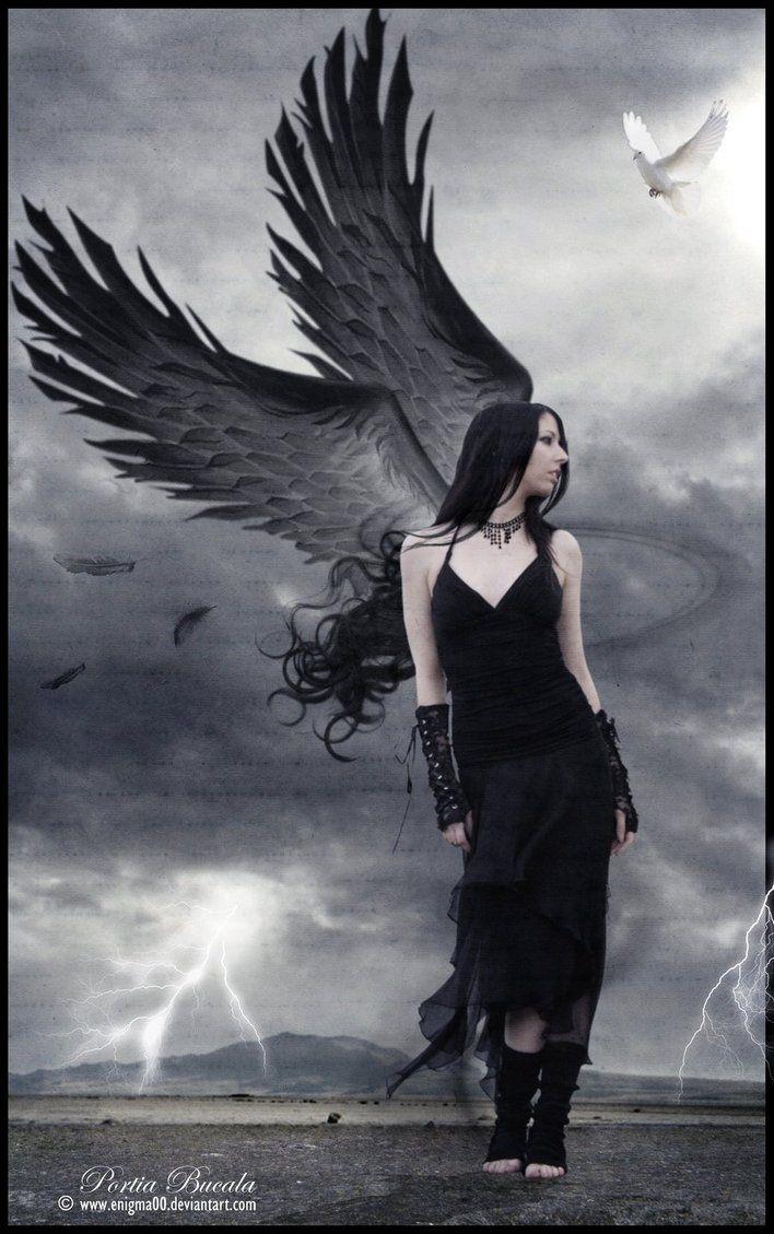 Goth Angel - Enlighten by enigma00 on deviantART | Gothic angel, Angel  artwork, Angel art