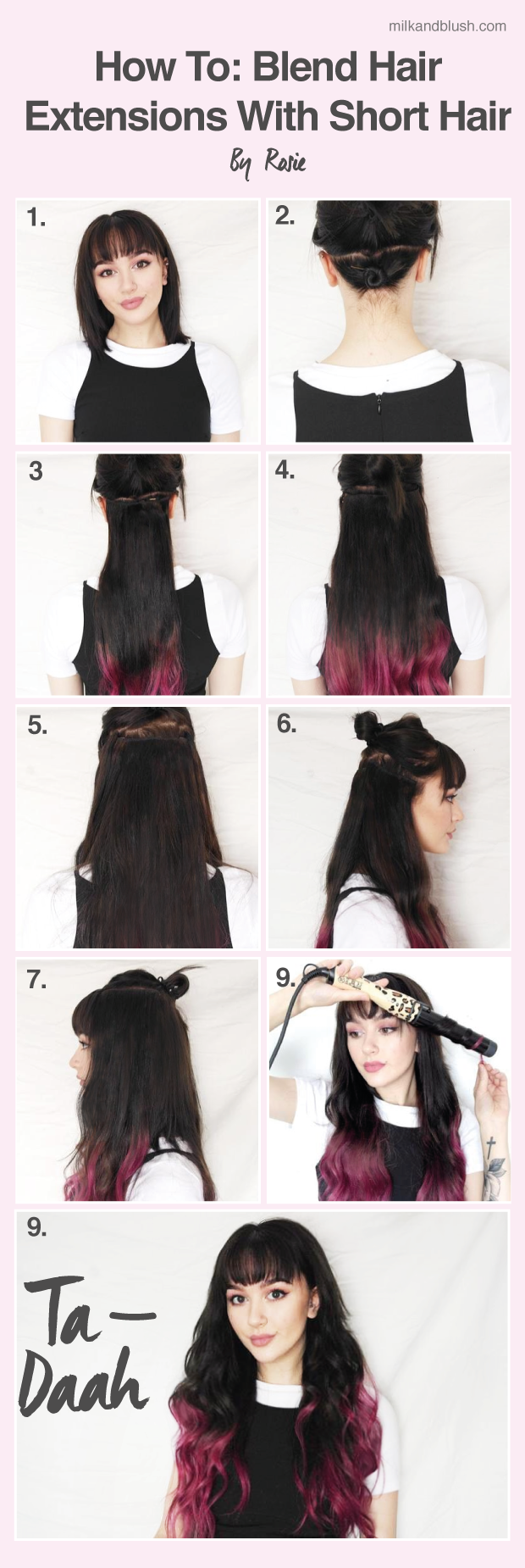 How To Blend Hair Extensions With Short Hair By Rosie Hair