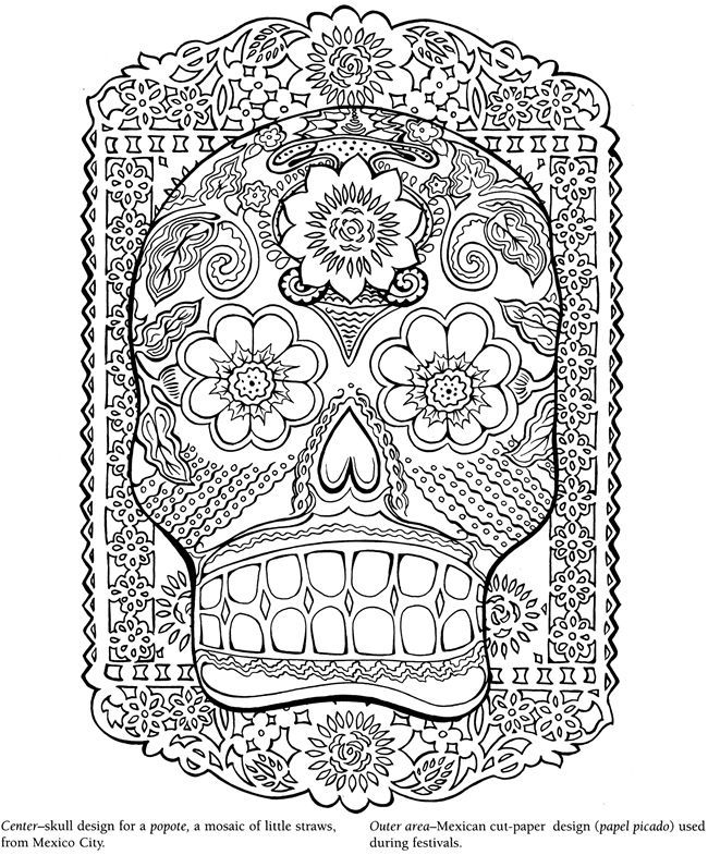 Dover Publications Free Coloring Pages Dover Publications Coloring Pages Skull Coloring Pages Coloring Books
