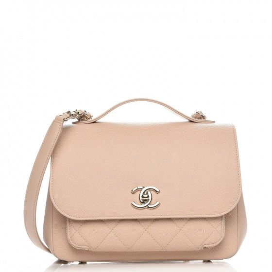 bf4ae03871bf CHANEL Caviar Quilted Small Business Affinity Flap Beige   Handbags ...