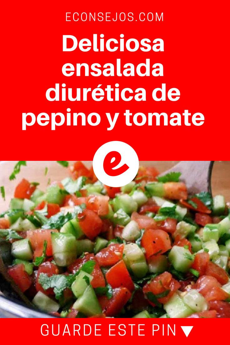 Ensalada Diurética Contra La Inflamación Ensalada De Tomate Y Pepino Ensaladas Comida