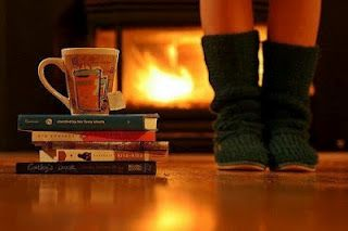 i want to spend cold winter nights cozied up by a fire, reading books and drinking tea.