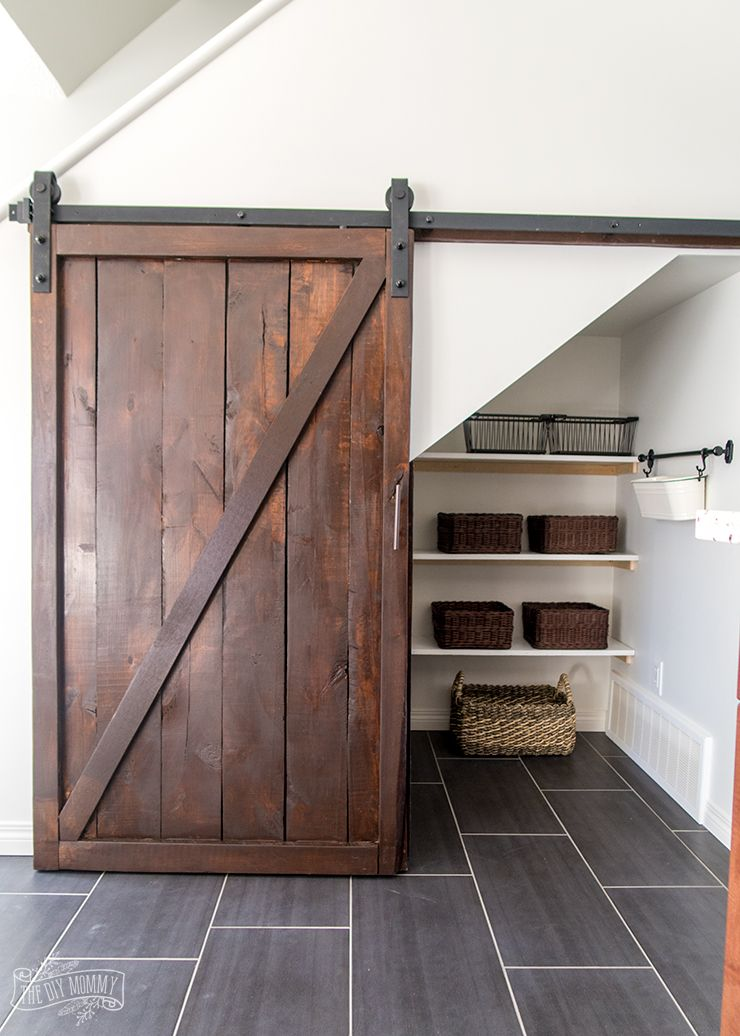 How To Build An Under Stairs Pantry With A Diy Sliding Barn Door With Brookfieldyeg Http
