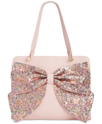 f3c1610f8b3a Betsey Johnson Macy s Exclusive Sequin Bow Satchel
