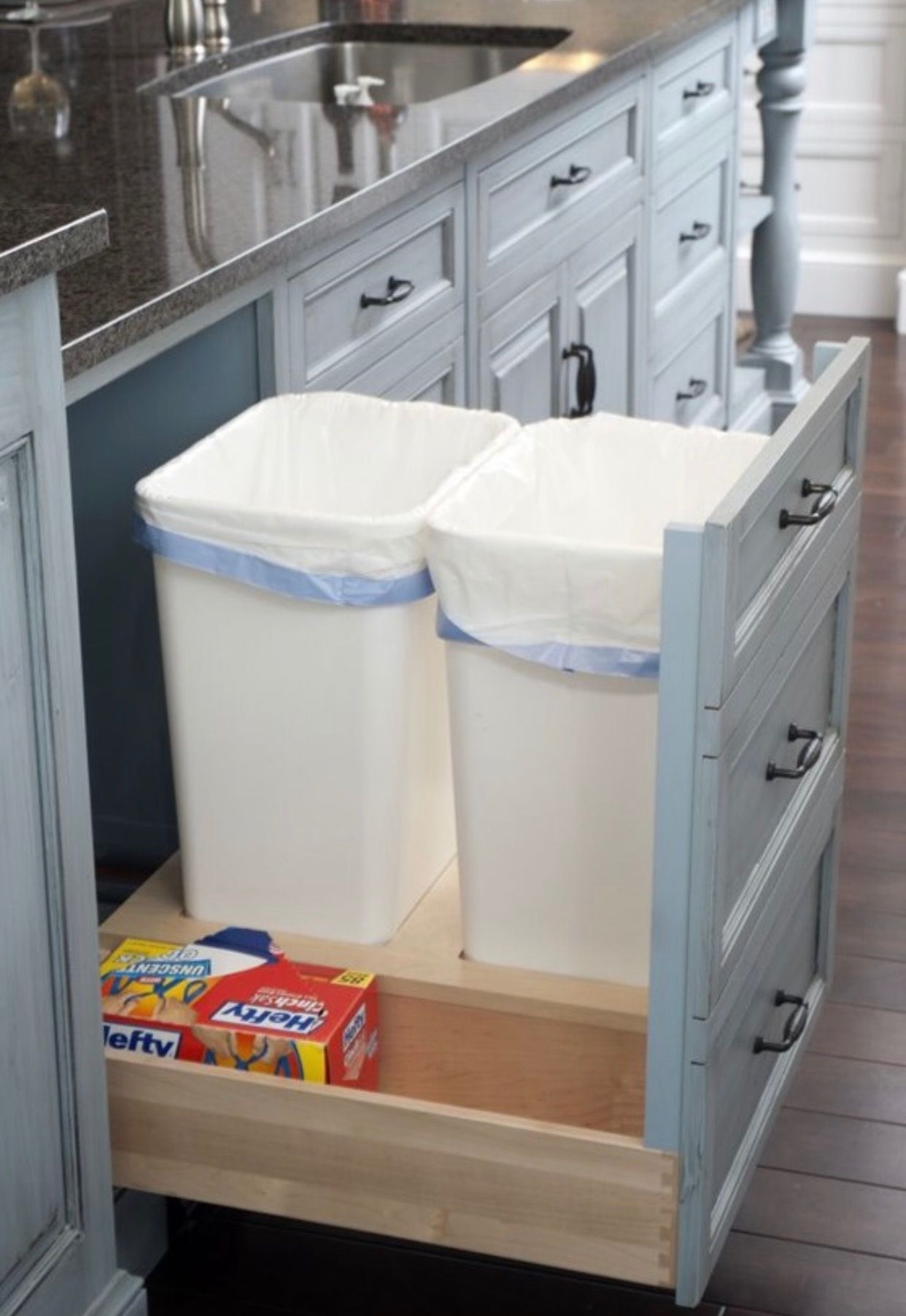 Kitchen Trash Can Pull Out Countertops Options Hidden Cans For My Houses In 2018