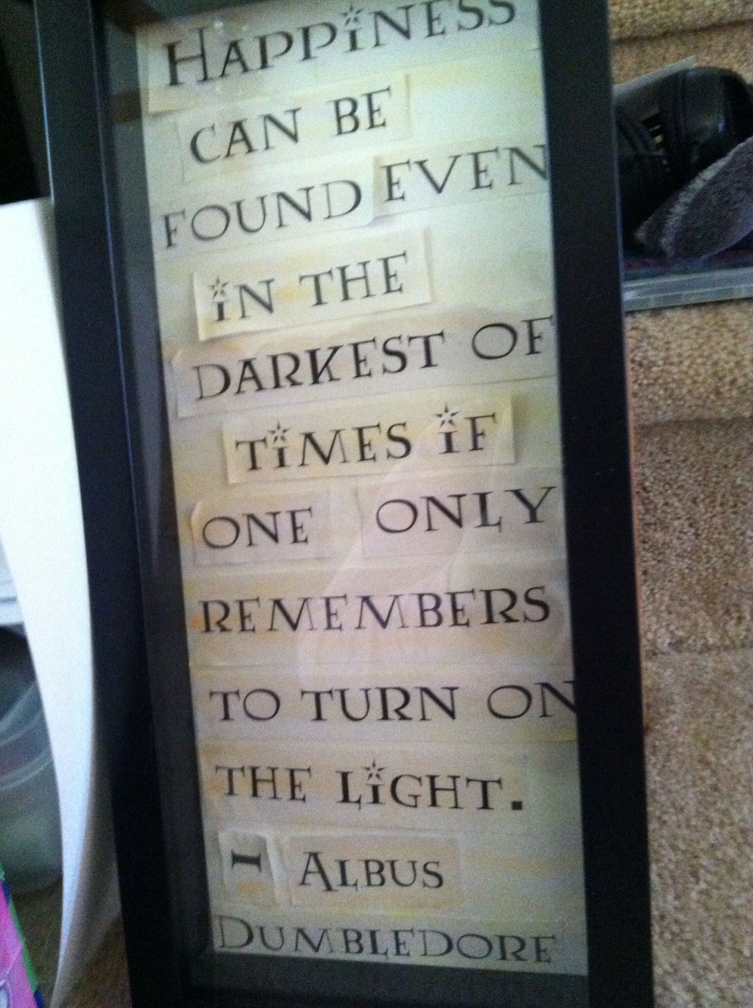 Harry Potter Quote Shadow Box Pintrest Projects Pinterest