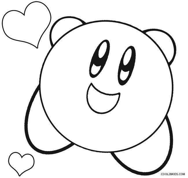 printable kirby coloring pages for kids cool2bkids kirby pinterest