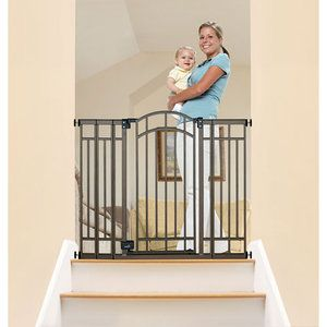 Summer Infant Decor Extra Tall Gate Pressure Mounted But Must Be Mounted With Included Hardware At Top Of Stairs 59 96 Walmart Free Ship T Home Pinte