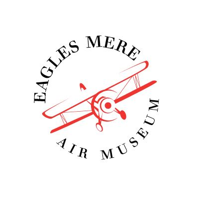 Vintage logo design for Eagles Mere Air Museum by thelogoboutique.com - vintage airplane