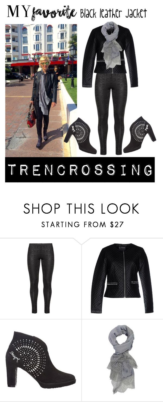 """Black leather jacket"" by trendcrossing on Polyvore featuring moda, Zhenzi, Vero Moda, Desigual e BlackLeatherJacket"