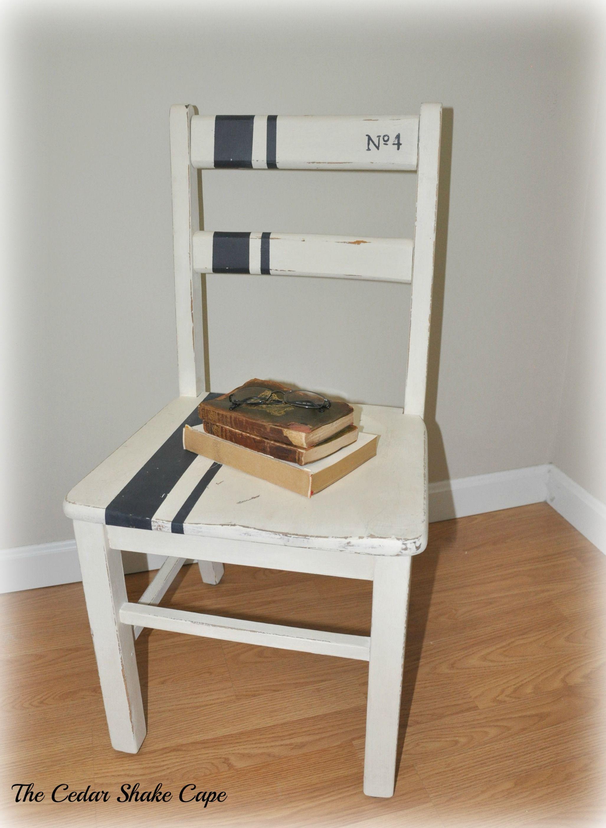 Cute farmhouse style chair makeover