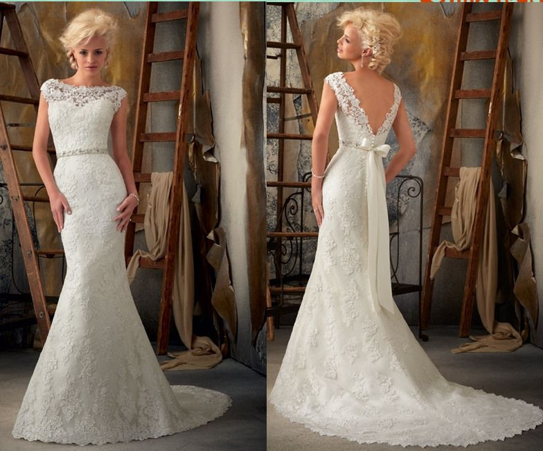 Sale Slim Sexy Mermaid Lace Wedding Dresses Bridal Gowns Custom Made Full Size | eBay