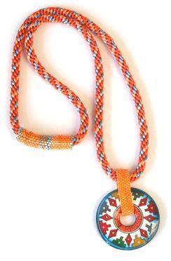 kumihimo artists   Peruvian Pendant by Suanough Zentell (Houston, Texas)
