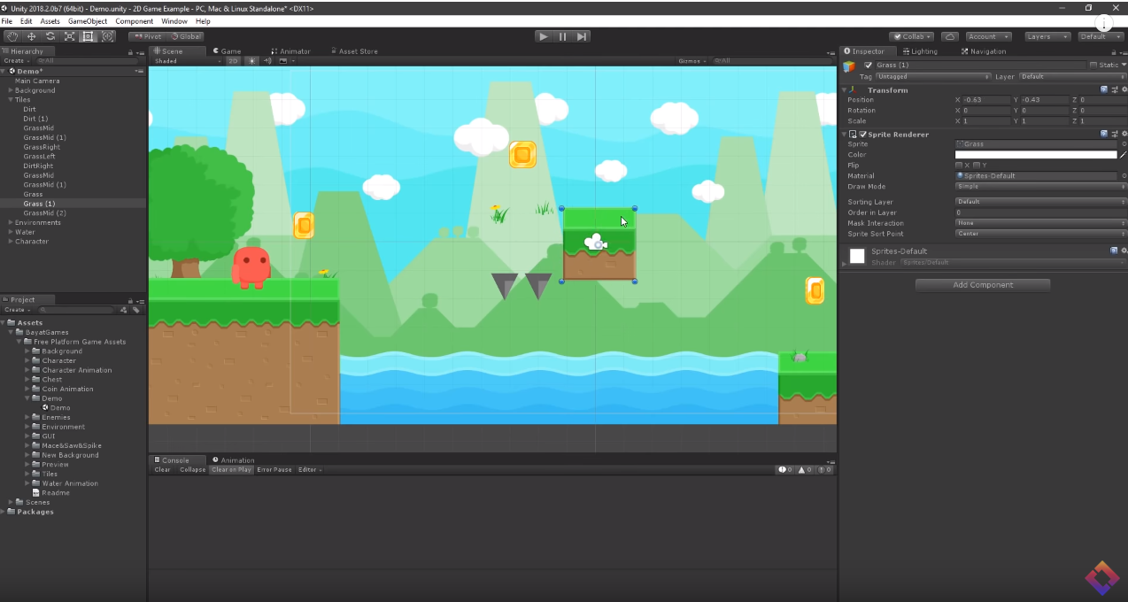 Unity ] How to make a 2D Game in Unity | Unity in 2019