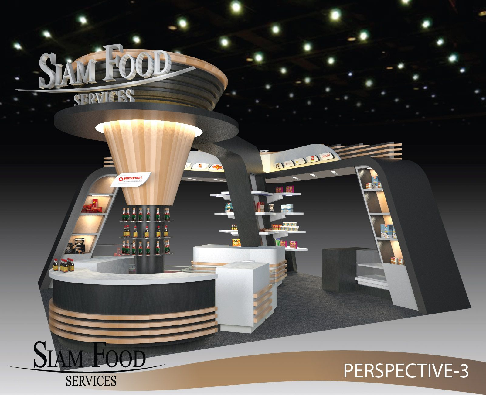 Exhibition Booth Open : Siam food exhibition booth nice open space all the