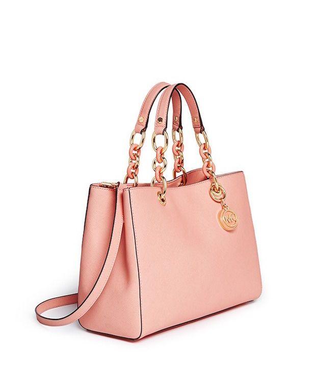 cb39870fe3f5 ... purchase michael kors cynthia small leather saffiano satchel pale pink  cross body vgc michaelkors 15779 15f4b