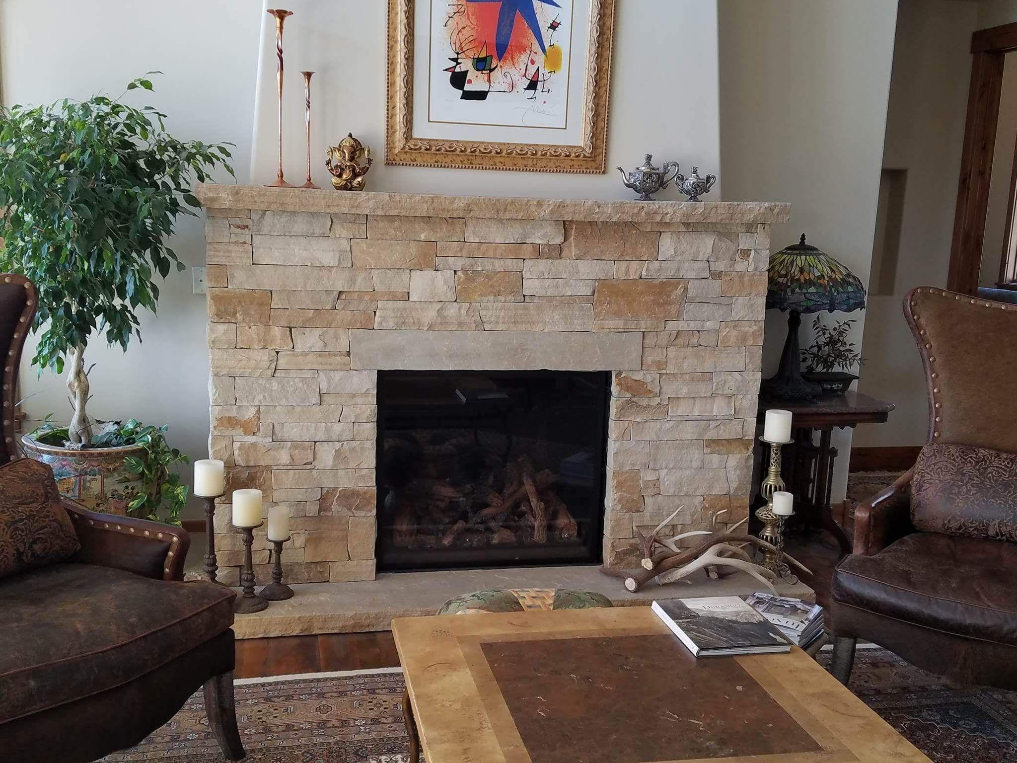 Cultured Stone Fireplace Mason Durango Co Masonry Construction