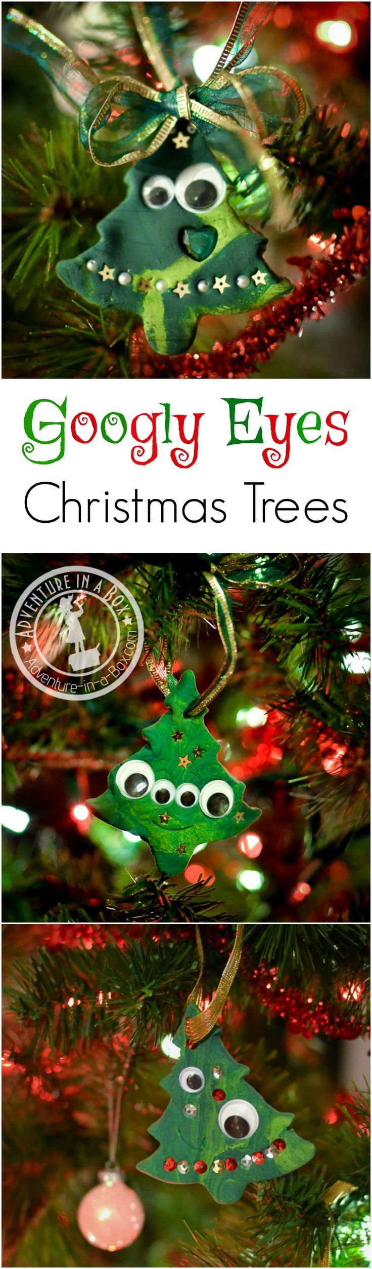 Crafts Are More Fun With Googly Eyes Very Simple Christmas Tree Ornaments Buttons And That Toddler Can Make