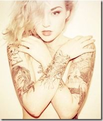 Photo of 24-year-old makeup artist and tattoo model Adriane Hallek, t…
