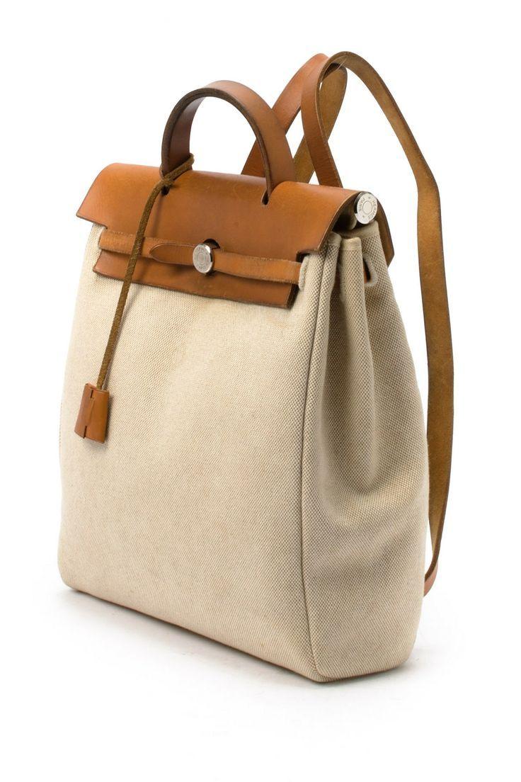 Vintage Hermes Cotton Herbag PM Backpack 396487e3e238d