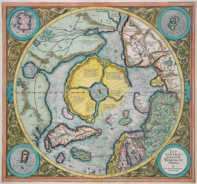 Mercator north pole cartography pinterest explore old maps antique maps and more gumiabroncs Choice Image
