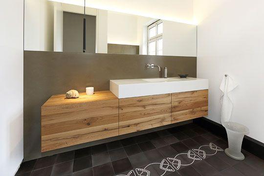 Doppelwaschtisch holz modern  Altholz mir Corian | Bad | Pinterest | Altholz, Waschtisch und Eiche
