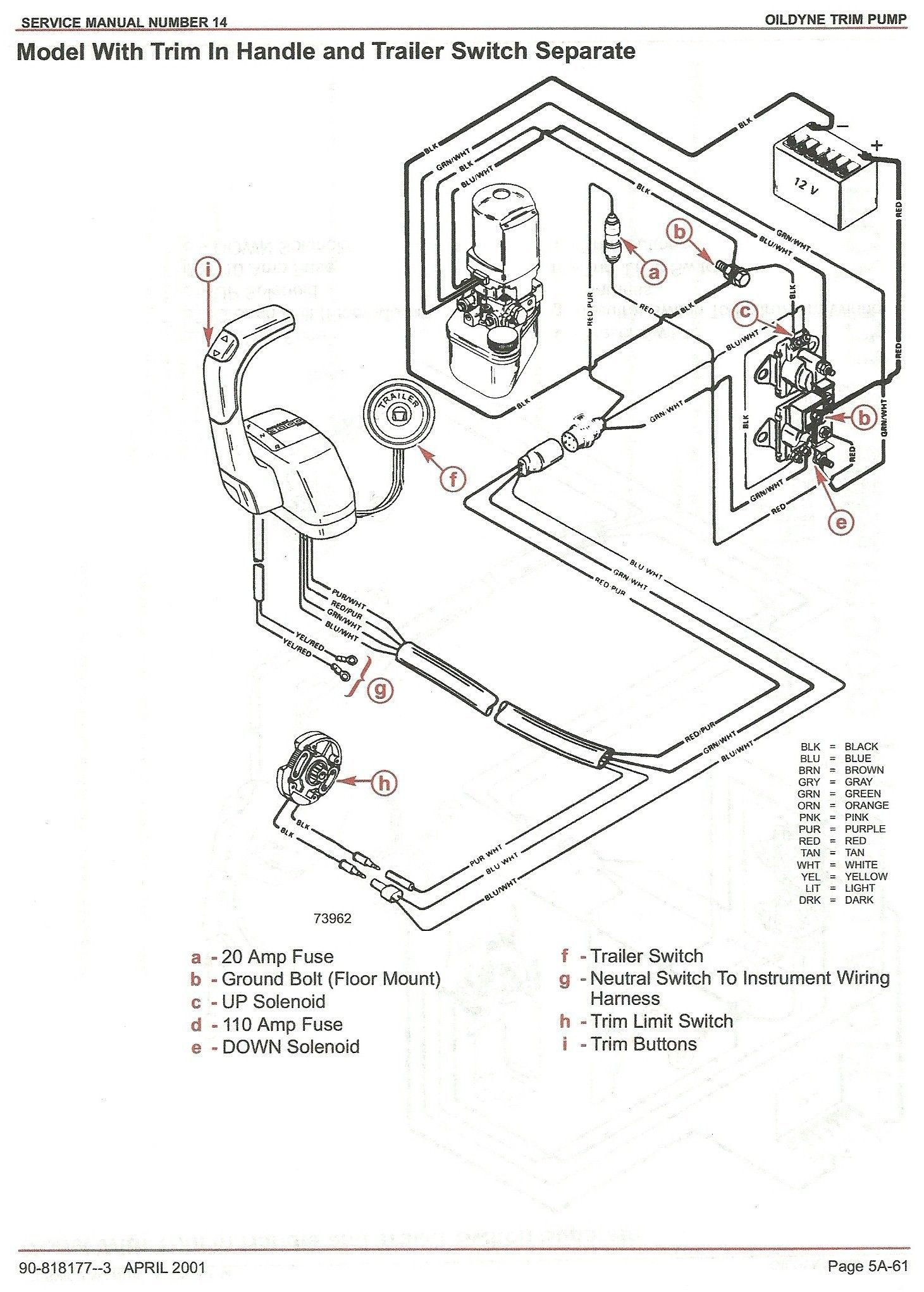 Mercruiser Trim Pump Wiring Wiring Diagram