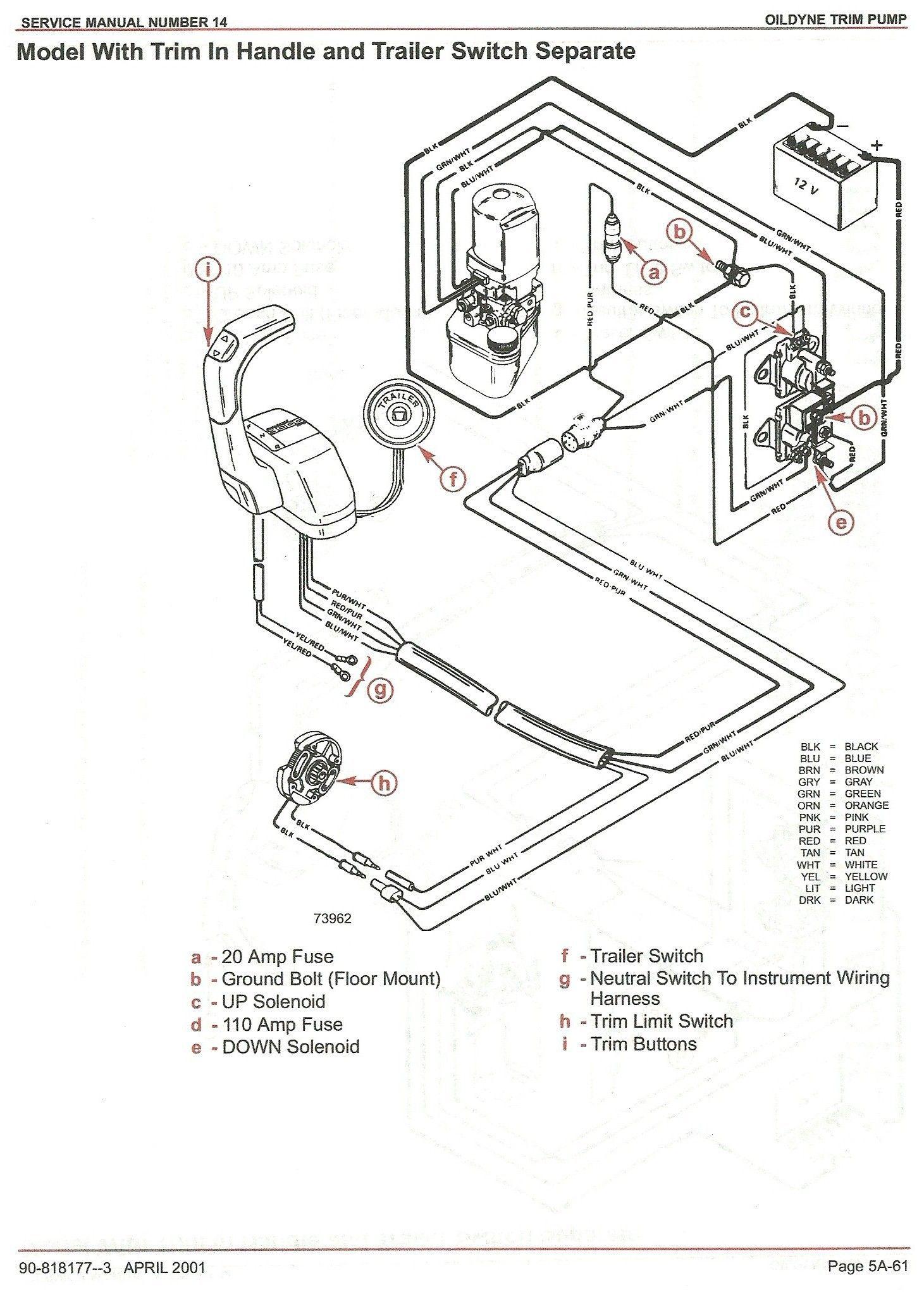 Mercruiser Trim Pump Wiring Wiring Diagram