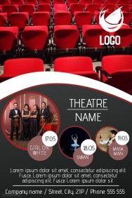 film or theatre flyer template theatre pinterest flyer