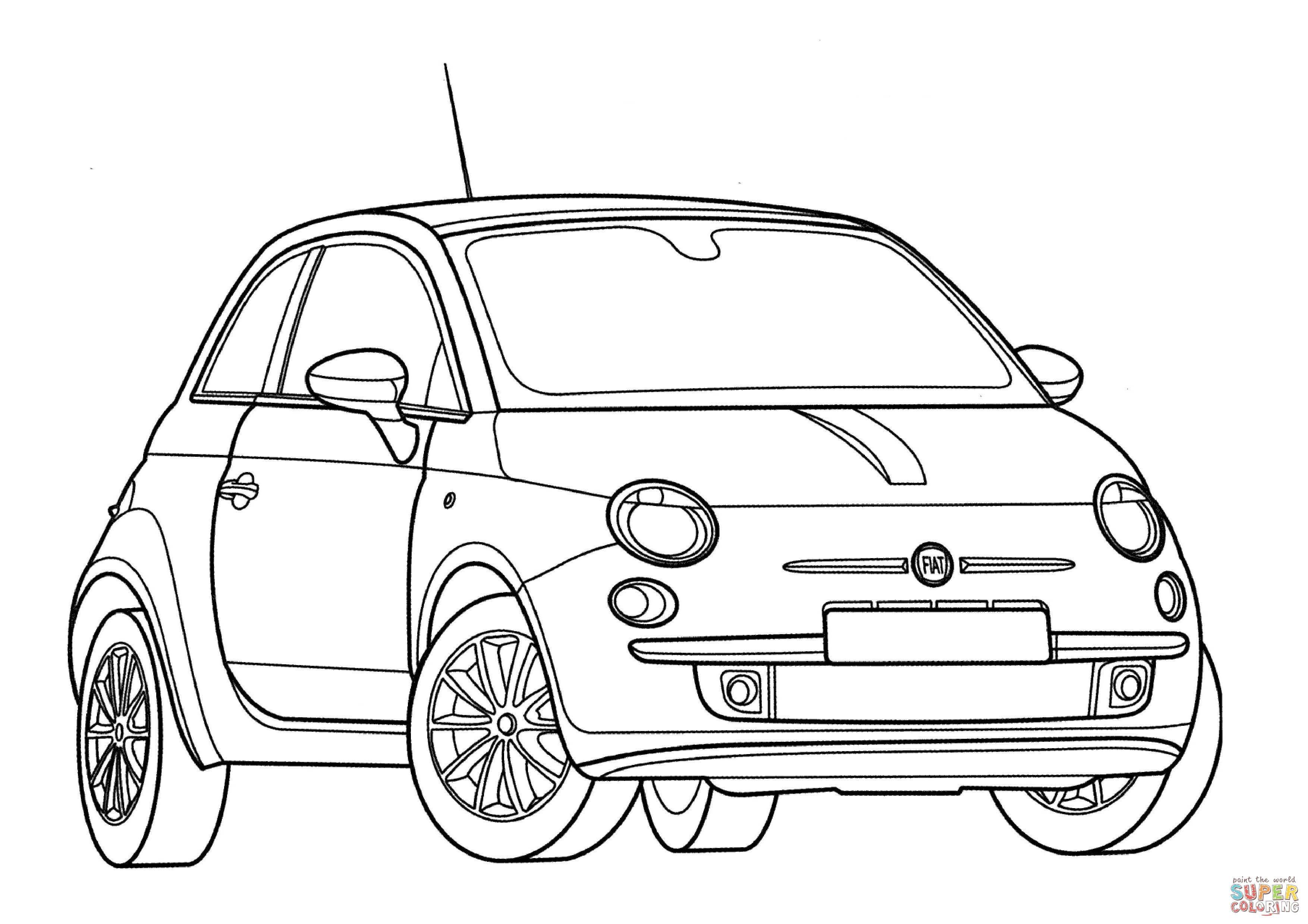 Fiat 500 Drawing Com Imagens Fiat 500 Carros Auto